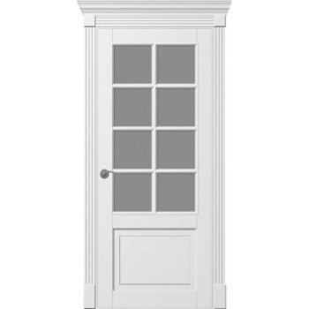 Двери Tesoro К1 ПО+решетка+портал  Woodok белая эмаль