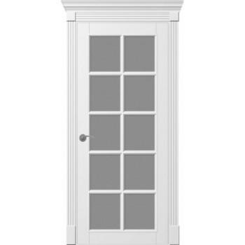Двери TESSORO SOLO ПО+решетка+портал белая эмаль