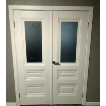 Двери Новый Стиль СТАТУС СТЕКЛО САТИН БЕЛЫЙ МАТ