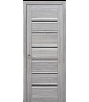 Двери Новый Стиль Венеция С1 жемчуг серебряный стекло графит