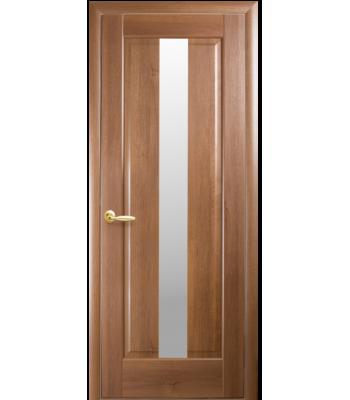 Двери Новый Стиль Премьера стекло сатин ольха