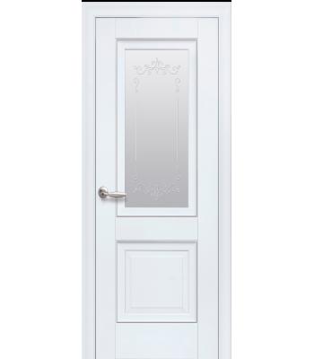 Двери Новый Стиль ИМИДЖ с рисунком Р2 молдинг белый мат
