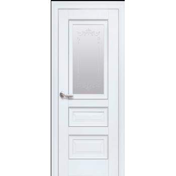 Двери Новый Стиль СТАТУС СТЕКЛО САТИН С МОЛДИНГОМ БЕЛЫЙ МАТ