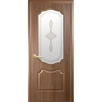 Двери Новый Стиль Фортис вензель стекло сатин с рисунком