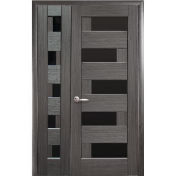 Двери Новый Стиль Полуторная Пиана черное стекло