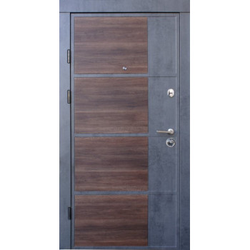 Двери Qdoors Премиум Boston бетон темный/бетон светлый