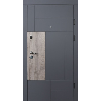 Двери Qdoors УЛЬТРА Прайм-М элегант серый/белый супермат