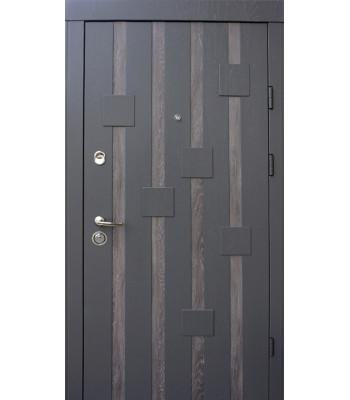 Двери Qdoors УЛЬТРА Рондо дуб графит+дуб шале/ дуб серый