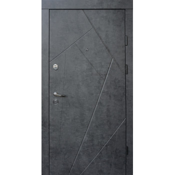 Двери Qdoors УЛЬТРА Флеш мрамор темный\бетон бежевый