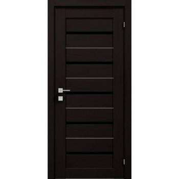 Двери Rodos Modern Lazio венге Renolit черное стекло RODOS