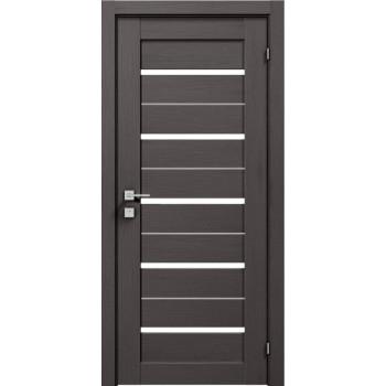 Двери Rodos Modern Lazio графит стекло сатин