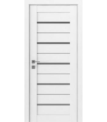 Двери Rodos Modern Lazio белый мат стекло сатин