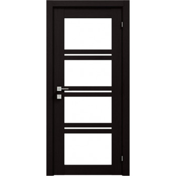 Двери Rodos Modern Quadro венге шоколадный со стеклом