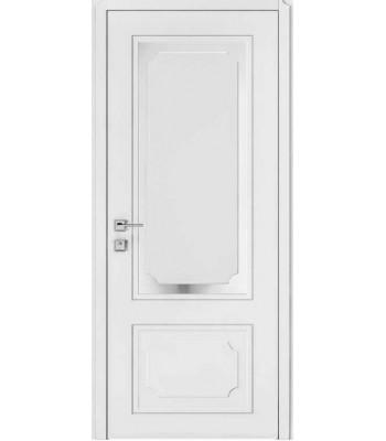 Двери Rodos Cortes Selena белый мат полустекло с тафлей