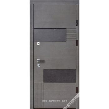 Двери Страж LUX STANDART VOLKANO венге серый горизонт