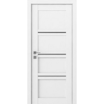 Двери Rodos Modern Quadro полустекло каштан белый