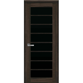 Двери Новый Стиль Виола экошпон черное стекло