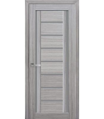 Двери Новый Стиль Флоренция жемчуг серебрянный стекло графит