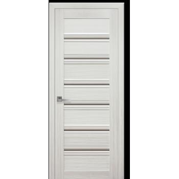 Двери Новый Стиль Венеция С1 жемчуг белый стекло черное