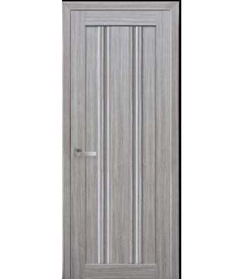 Двери Новый Стиль Верона С1 жемчуг серебрянный стекло графит