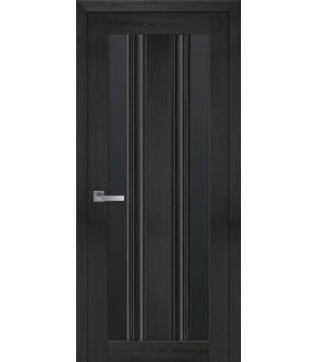 Двери Новый Стиль Верона С2 жемчуг кофейный стекло черное