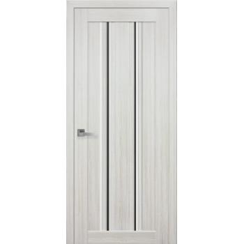 Двери Новый Стиль Верона С1 жемчуг белый стекло черное