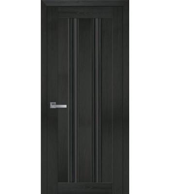 Двери Новый Стиль Верона С1 жемчуг кофейный стекло черное
