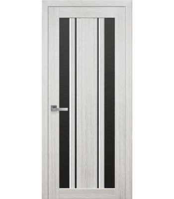 Двери Новый Стиль Верона С2 жемчуг белый стекло черное