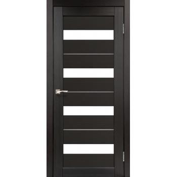 Межкомнатные двери KORFAD Porto Deluxe PD-02 венге сатин + металик