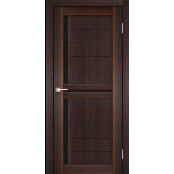 Межкомнатные двери KORFAD SCALEA SC-04 орех черное стекло