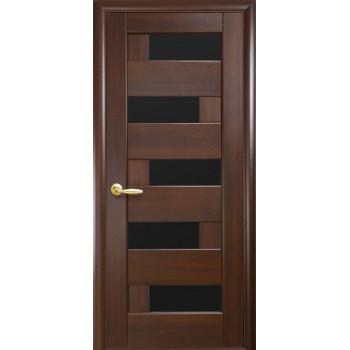 Двери Новый Стиль Пиана с черным стеклом