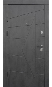 Двери Qdoors Премиум Акцент бетон темный/бетон серый