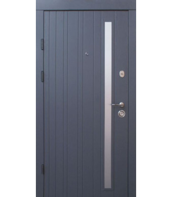 Двери Qdoors Премиум Браш-Al серая структура/какао супермат