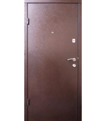 Двери QDOORS стандарт Металл коричневый/ мдф орех темный Классик