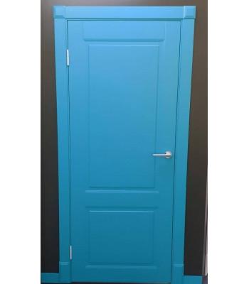 Двери межкомнатные Омега Милан ПГ  выкраска Ral bl