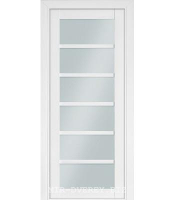 Межкомнатная дверь Терминус Nanoflex модель 307 белый мат стекло