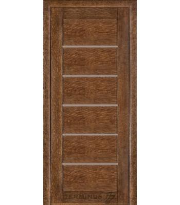 Межкомнатные двери Терминус Modern 137 дуб браун глухая ШПОН