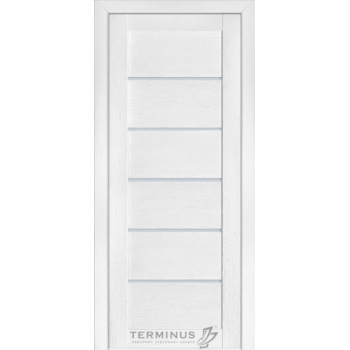 Межкомнатные двери Терминус Modern 137 ясень  белый глухая ШПОН