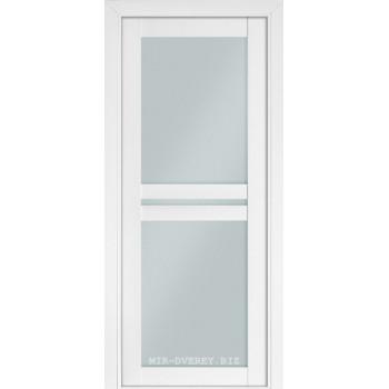 Межкомнатная дверь Терминус Nanoflex модель 104 стекло белый мат