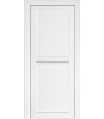 Межкомнатная дверь Терминус Nanoflex модель 104 глухая белый мат