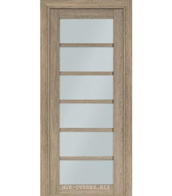 Межкомнатная дверь Терминус Nanoflex модель 307 мускат стекло
