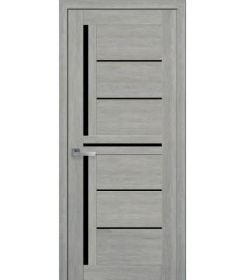 Двери Новый Стиль ПВХ Ultra Диана дуб дымчастый черное стекло