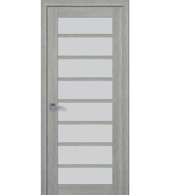Двери Новый Стиль ПВХ Ultra Виола стекло сатин дуб дымчастый