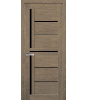 Двери Новый Стиль ПВХ Ultra Диана дуб медовый черное стекло