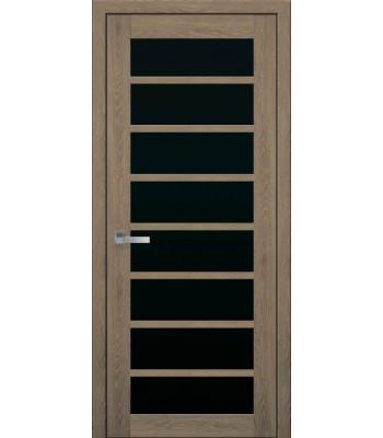 Двери Новый Стиль ПВХ Ultra Виола дуб медовый черное стекло