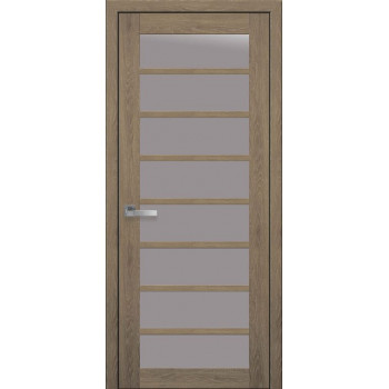 Двери Новый Стиль ПВХ Ultra Виола стекло сатин дуб медовый