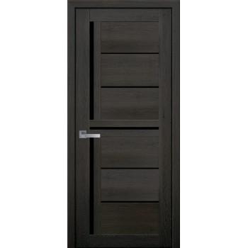 Двери Новый Стиль ПВХ Ultra Диана дуб мускат черное стекло